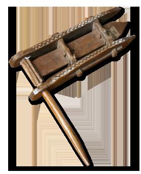 Tradicionalna drvena čegrtaljka