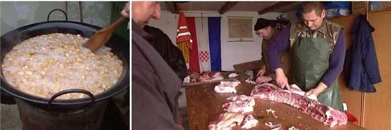 Prvo kolinje u Europskoj Uniji, priprema delicija za zimu