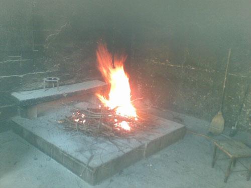 vatra za pripremu soparnika